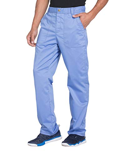 Dickies Essence Men's Drawstring Zip Fly Scrub Pant, XL, Ciel Blue from Dickies
