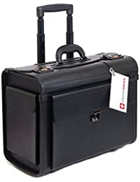 """Rolling 17"""" Laptop Briefcase on Wheels Attache Lawyers Case Legal Size"""