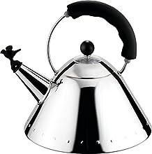 Alessi 9093 B - Hervidor de Agua de Acero con Mango de Color Negro