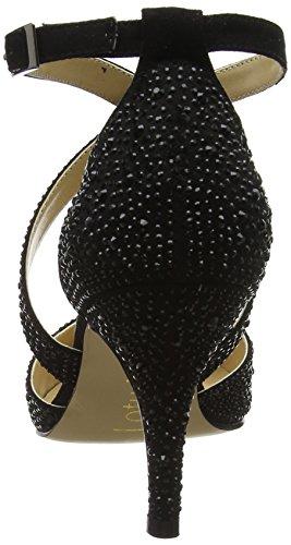Noir Star Escarpins Black Femme à Diamante Blk Plateforme Silver Lotus RpSqAxwq