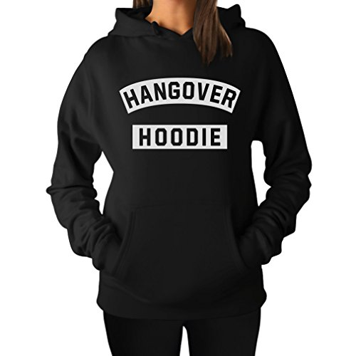 - Tstars Hangover Hoodie - Funny After Party Women's Hoodie X-Large Black
