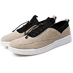 GIY Men Fashion Low Top Round Toe Lace-up Sneakers Comfortable Casual Skate Shoes