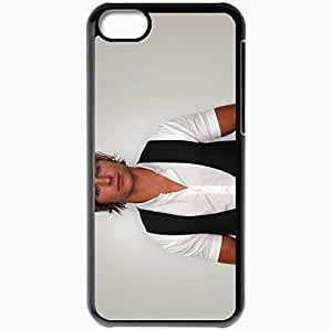 Personalized iPhone 5C Cell phone Case/Cover Skin Zac Efron Musicians Famous For Being Star of Hairspray and Disneys High School Musical Black