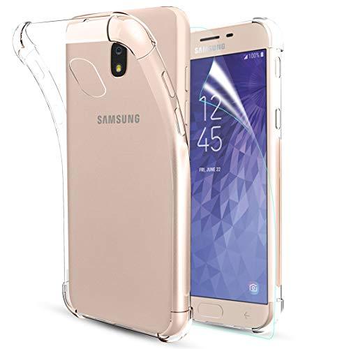 iCoold Samsung Galaxy J7 2018 Case Clear,Galaxy J7 Refine Case,J7 Star Case,J7 Crown Case,J7 Aero/J7 V 2nd Gen,J7 Aura Case,W/[Screen Protector] Soft TPU Slim Shockproof Protective Phone Case,Clear (Samsung Virgin Mobile Phone Cases)