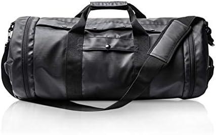 大容量ワンショルダーのスポーツ手荷物バッグポータブル多機能ゴルフバッグ防水キャリング複数の方法、そして耐性ブラックを着用してください HMMSP (Size : 48×27×27cm)