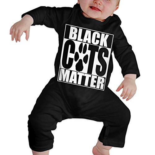 Unisex Baby Black Cat Halloween Long Sleeve Romper Pajama Clothes -