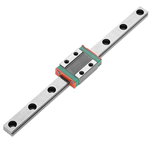 LML9B 9mm Linear Rail Mini Bearing Steel Guide Rail Slide Rail+ Slide Block Variety Length(150mm)