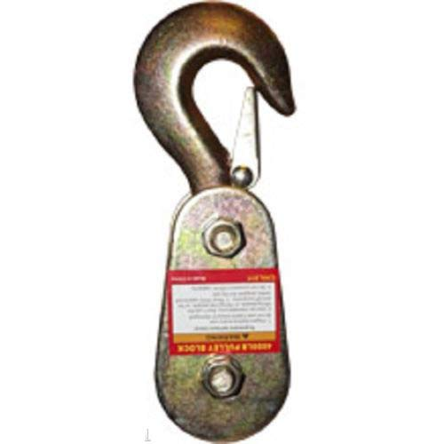 KCHEX2000 LB Capacity Steel Pulley Rope Load Lift Lifting SHEAVE Block Hook2000 LB Capacity Steel Pulley Rope Load Lift Lifting SHEAVE Block Hook Drop Forged Steel Construction ZINC Coated to