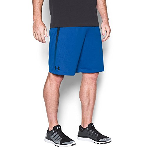 Under Armour Men's Tech Mesh Shorts, Blue Marker/Black, - Athletic Outlet