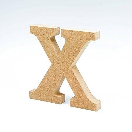 Lettera N in legno da 20 cm per lavori di scrapbooking e manualit/à.
