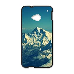 Himalaya Mountain Snow HTC One M7 Cell Phone Case Black&Phone Accessory STC_047013