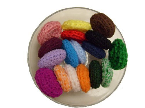 (HANDMADE SCRUBBIES Nylon Net Pot Pan Scrubbers SET of FOUR (4)!!!!Perfect for Giving to Self, Family, Friends!!!)