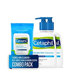 Simplify the way you care for your skin with Cetaphil Gentle Skin Cleanser and Cetaphil Gentle Skin Cleansing Cloths. This creamy, non-foaming skin cleanser rinses clean and won't clog pores. The moisturizing non-irritating formula is clinica...