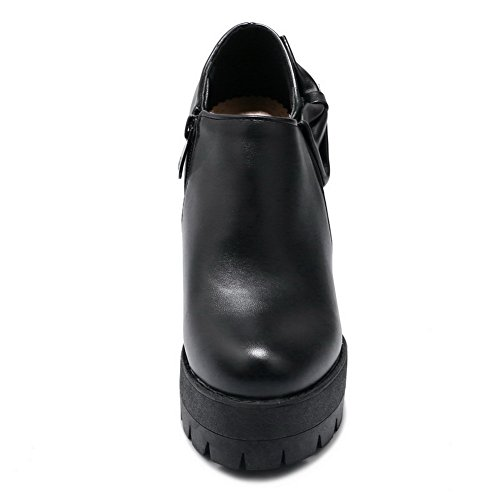 BalaMasa Womens Dress Platform Slip-Resistant Urethane Pumps Shoes ABL10345 Black 6N6ASQoj7