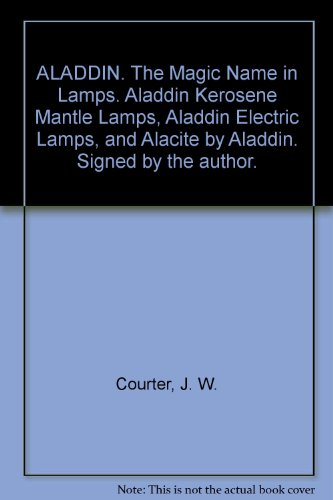 ALADDIN. The Magic Name in Lamps. Aladdin Kerosene Mantle Lamps, Aladdin Electric Lamps, and Alacite by Aladdin. Signed by the author.