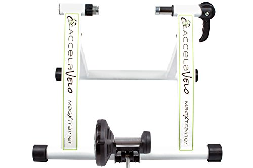 AccelaVelo Mag-X Indoor Magnetic Bike Trainer - Constant Magnetic Resistance - Quick Release Wheel Lock - Complete 2 Year Warranty by AccelaVelo