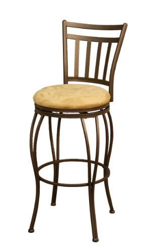American Heritage Billiards Folio Bar Height Stool, Topaz/camel
