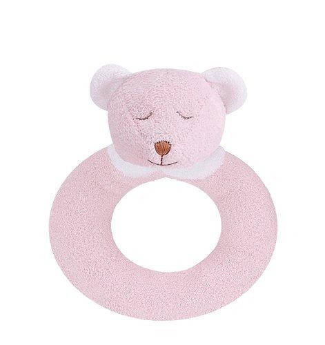 Angel Dear Ring Rattle, Pink Bear