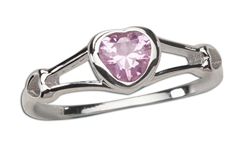 Sterling Silver CZ Heart Baby Ring or Girl's Ring