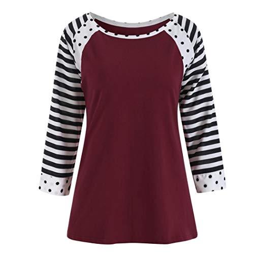 Realdo Clearance Sale, Women Casual Solid Long Sleeve Hooded Pullover Asymmetrical Hem Sweatshirt Tops Blouse(Wine,Medium)