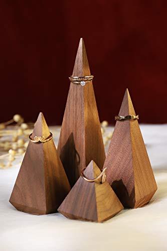 Soportes en madera exhibicion de anillos para joyeria 4un