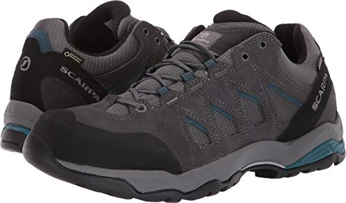 SCARPA Men's Moraine GTX Light Hiking Shoe, Grey/Lake Blue, 47