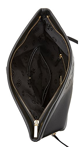 Tory Burch Bombe Fold-Over Clutch Bag Black by Tory Burch (Image #2)