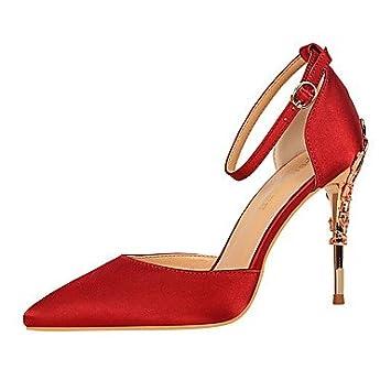 Chaussures automne à talon aiguille roses femme 2gWmfVA