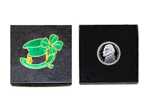 """My Lucky Coin – 1999 S Jefferson Nickel – Gem Proof Condition – In a """"Luck of the Irish"""" Gift Box by..."""