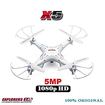 X5 X5-1 RC Drone with 5MP 1080P HD Camera 2.4G 6-Axis Remote Control Helicopter Quadcopter Better Than X5C 2MP Camera