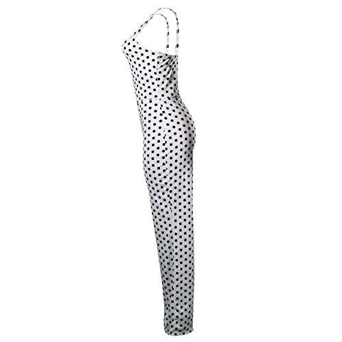 Jumpsuit Dots Casual Strap Chica Monos Imprimir Rojo Keamallltd Wide Moda Chic Mujeres Verano Black Legs 5qBnnxtvO