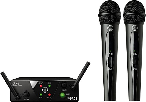 - AKG Pro Audio WMS40 Mini2 Vocal Set BD US45A/C EU/US/UK Wireless Microphone System
