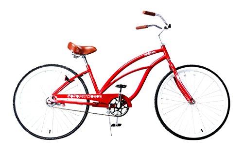 - Fito Women's Marina 2.0 Aluminum Alloy 7 Speed Beach Cruiser Bike, Red, 15.5
