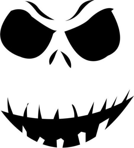 Jack Skellington Skull Halloween Vinyl Graphic Car Truck Windows Decal Sticker - Die cut vinyl decal for windows, cars, trucks, tool boxes, laptops, MacBook - virtually any hard, smooth surface -