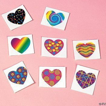 Funky Heart Tattoos 72 pieces