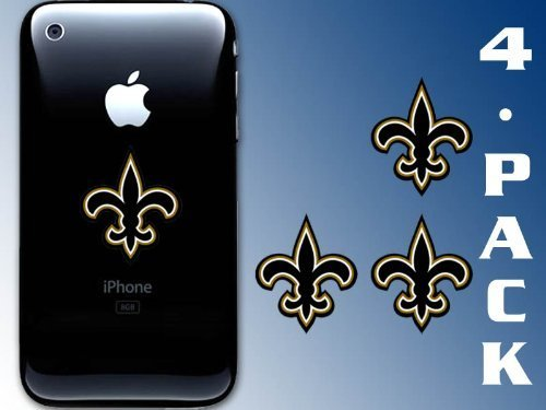 4-Pack Fleur De Lis Cell Phone Sticker (New Orleans Saints -
