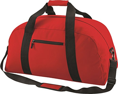 Bagbase Adjustable Classic Shoulder Sports Red Bag Holdall Strap Luggage Classic Duffle r6Ux67