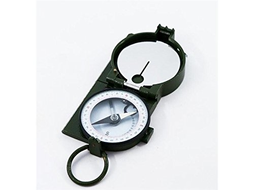 Yuchoi Solid Compass Metal Outdoor Explore Navigation Tools Mileage Measurement Compass (Army Green) by Yuchoi