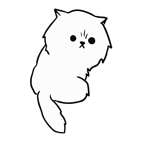 white-kitty-cat-looking-back-five-inch-tall-full-color-decal-for-indoor-or-outdoor-use-car-truck-lap