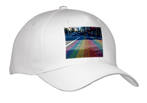 Danita Delimont - Cities - Rainbow street crossing, Castro District, San Francisco, California - Caps - Adult Baseball Cap - Sf Street Castro