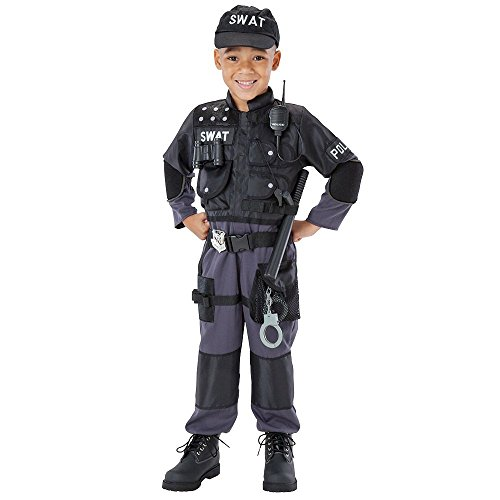 Accessories Costume Team Swat (Toddler 6-Piece Reflective SWAT Team Costume,)