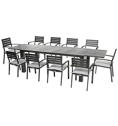 HespérideJardin Aluminium Extensible Figari Table Noir yf6gYb7v
