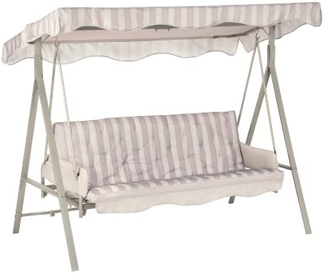 Garden Winds LCM621GY-RS Garden Treasures 3 Person Swing RipLock 350 Replacement Canopy, Gray REPLACEMENT CANOPY TOP COVER ONLY, WILL ONLY FIT FRAME MODEL