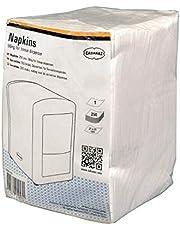 servetten Napkins 21 x 21 cm papier wit 250 stuks