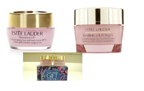 Estee Lauder Resilience Lift Duo Sets Firming / Sculpting Face and Neck Creme SPF15 0.5oz/15ml Plus Resilience Lift Night Creme 0.5oz/15ml