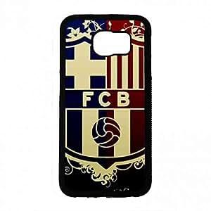 Hard Slim Barcelona Claro Hard Spigen Funda Funda, Samsung Galaxy S6 Hard TPU Caso De Vuelta, Barcelona FC Logo Cubierta Del Caso For Samsung Galaxy S6 Funda