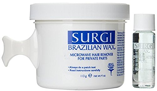 Special Pack of 5 Surgi-Wax Brazilian Waxing Kit for Private Parts 4 oz (113 g) [Misc.]