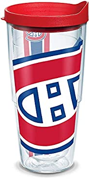 """Tervis 1105392 """"NHL Mon Canadiens Colos"""" Tumbler with Red Lid, Wrap, 24"""