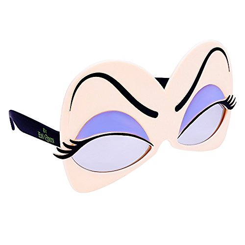 Sun-Staches Costume Sunglasses The Evil Queen Eyes Party