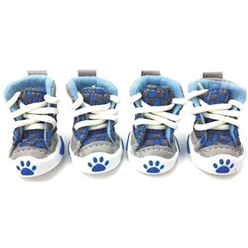 Jim Hugh Pet Dog Shoes Small Dog Boots Football Style Dog Summer Shoes for Small Pets Four Colors (Camo Dog Boots Green)